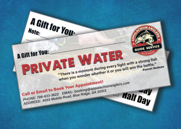 private water gift certificate