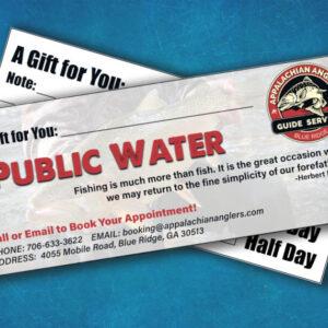 public water gift certificate